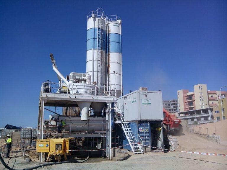 Fabricación y bombeo de hormigón R15+1